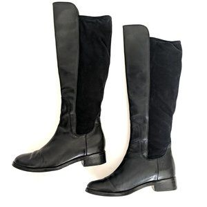 Cole Haan Air Whitley Black Leather Tall Boots